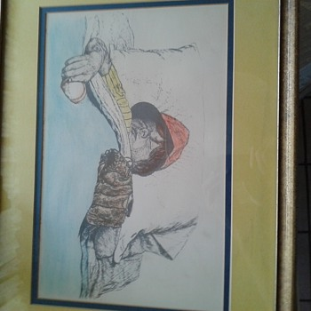 Water color boy with baseball glove and ball in bed sleeping  - Baseball