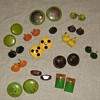 Bakelite and other plastic earrings