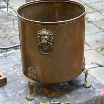Very large brass planter