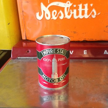 Empire State One Quart Oil Can - Petroliana