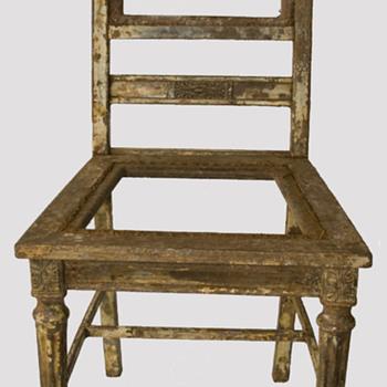 Antique Metal Kitchen Chair - Furniture