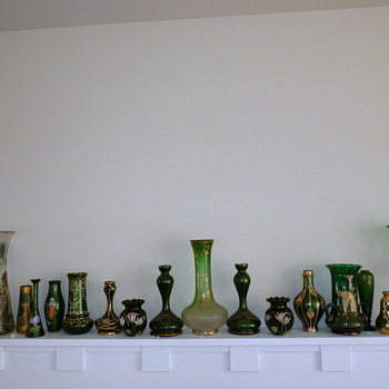 Green mantle - Art Glass