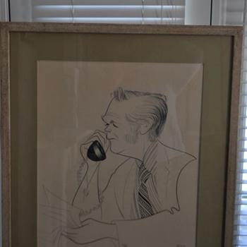 Al Hirschfeld drawing of...? - Visual Art