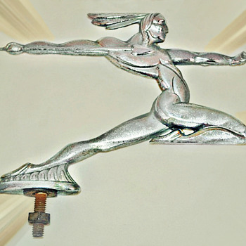 Indian Hunter Mascot,  Vintage Hood Ornament, circa early 1930's