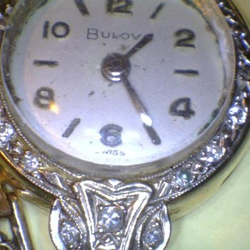 Bulova ladies Diamond and Gold watch - Wristwatches