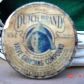 Dutch Brand Van Cleef Bros Valve Grinding Compound Tin   - Petroliana