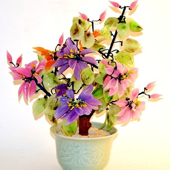 CZECH GLASS MINIATURE MAGNOLIA TREE