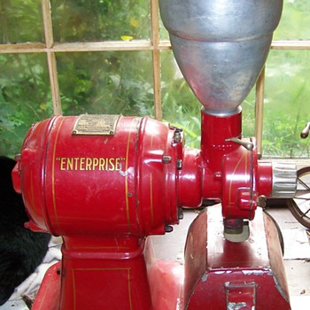 Old Enterprise coffee grinder