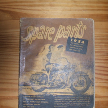 1954 Harley-Davidson Dealers Parts list and Price list - Motorcycles