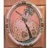 """Spectacular Ballet Costume Watercolor Sketch/ Pastel Floral 23"""" Oval Frame- Signed """"BeaTrice Miller""""/Circa 20th Century"""