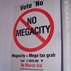 No mega city paper poster.