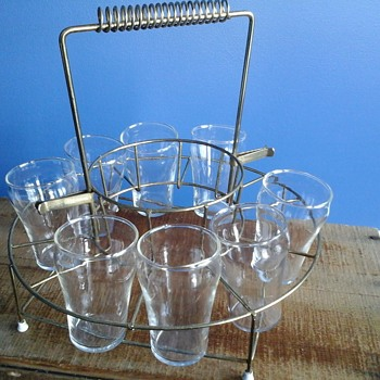 Brass Wire Drink Caddy - Kitchen