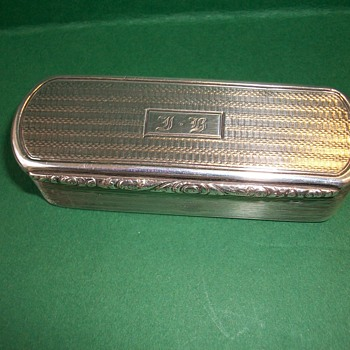 Tooth Pick Box  in Silver
