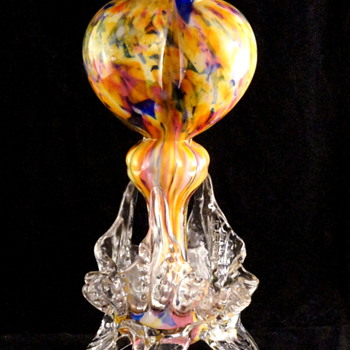 Tri-Lobed Heart & My Favorite Spatter - Classic Welz - Art Glass