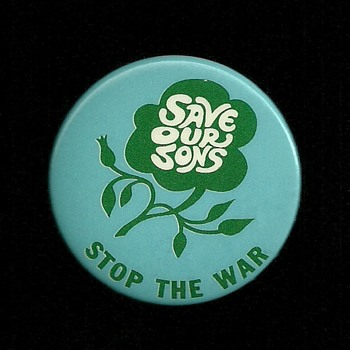 Save our Sons Vietnam era pinback button - Medals Pins and Badges