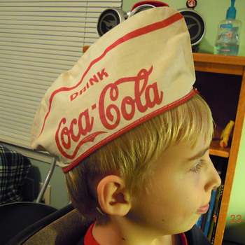 Coca-Cola Soda Jerk Cap, Cloth, c. 1940
