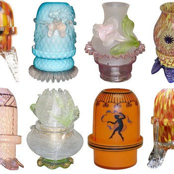Bohemian Fairy/candle Lamps - Art Glass