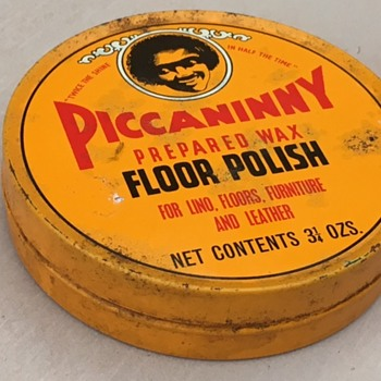 Very Politically Incorrect Tin of Floor Polish - Advertising