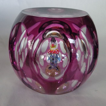 Perthshire 1998 Paperweight Jo Jo The Clown - Art Glass