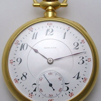 23J Howard 18K Pocket Watch w/ Presentation Case - Pocket Watches