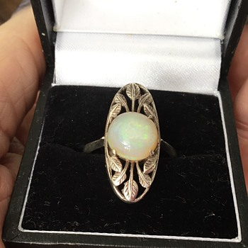 Bernard Instone Silver and Opal Ring