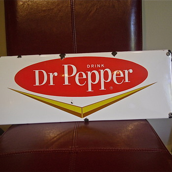 50s Dr Pepper Porcelain Sign - Advertising