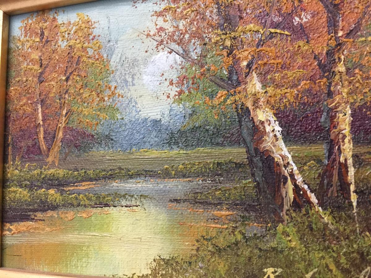 Autumn splendor painting vintage
