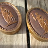 Awesome HEAVY Cast Bronze Relief Greek Goddess w/ Deer Wall Plaque Pair