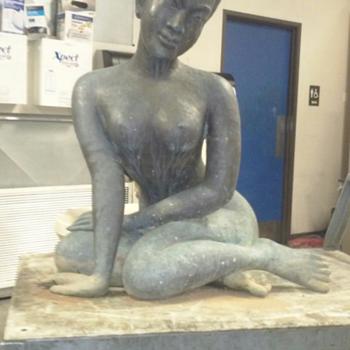 life size bronze oriental nude