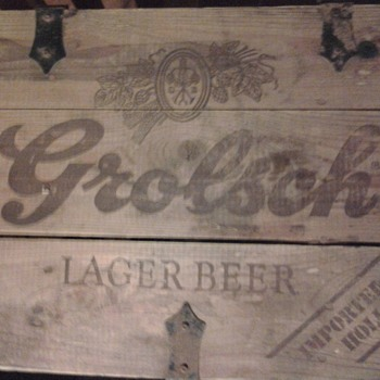 Grolsch Lager Beer in Wooden Crate - Breweriana