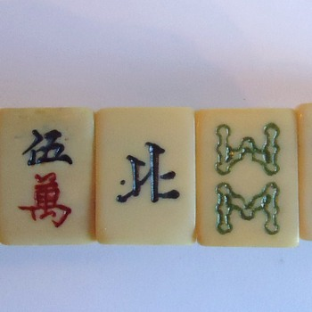 Mahjong  Bracelet,  old Ivory (I believe),  Chinese - Costume Jewelry