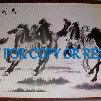 8 Horses Running or Galloping Horse Painting - Asian