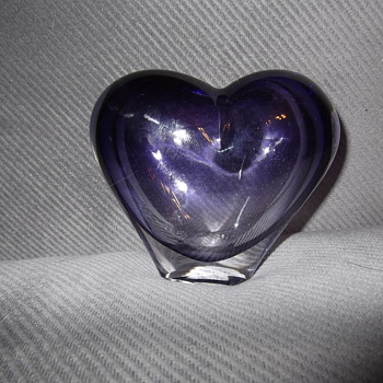 Rosenthal Crystal Heart vase - Art Glass