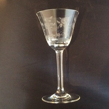 Vintage engraved glass
