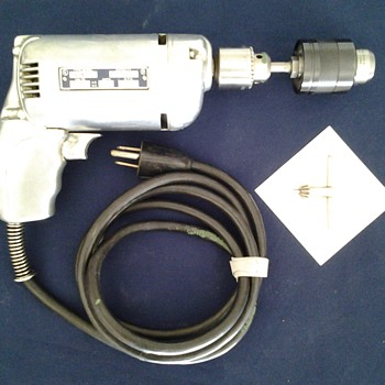 "Stanley Vintage 1/4"" Electric Drill #H41-A"