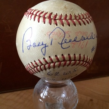 New York Yankees BOBBY RICHARDSON autograph Baseball  - Baseball