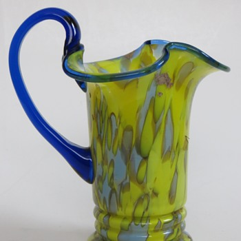 Art Glass Pitcher~Beautiful Shape & Color,....Bohemian?
