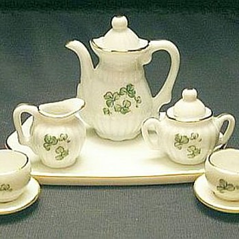 Vintage Shamrock Tea Set for Children - China and Dinnerware