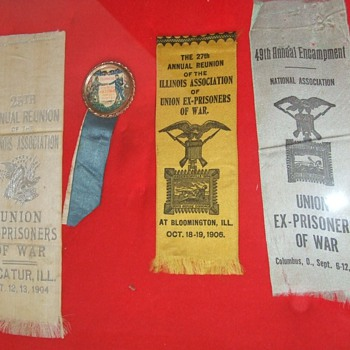 Civil War Andersonville prisoner ribbons grouping