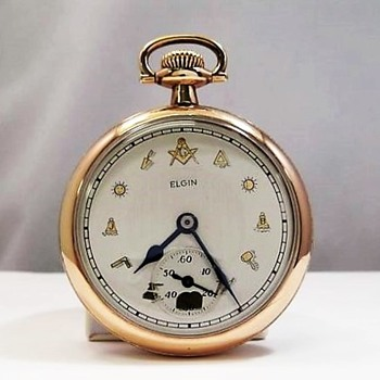 "1921 Masonic Dial ""Father Time"" Pocket Watch"