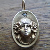 Early victorian goddess gold and diamond earring? 