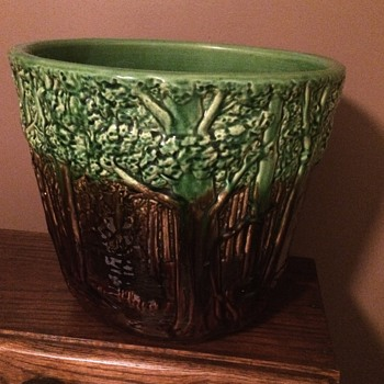 "Unusual  12"" Weller Forest Jardeniere.  - Pottery"