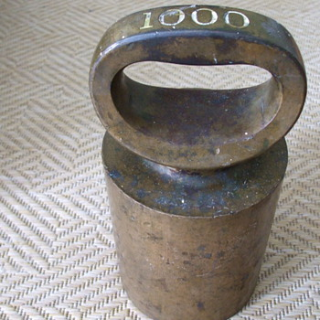 Old 1000 Ounce WEIGHT For Industrial Scale or Bronze Foundry BAR?