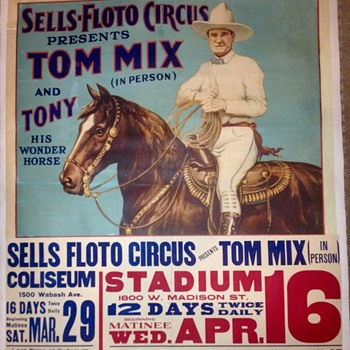 Sells Floto Featuring Tom Mix - Chicago Opening - Posters and Prints