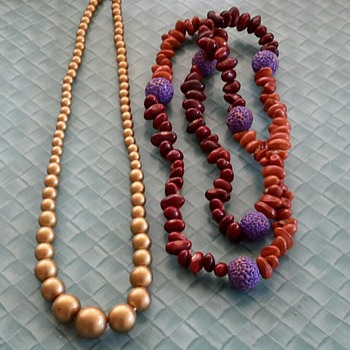 Gold bead Necklace and Seed beads Necklace