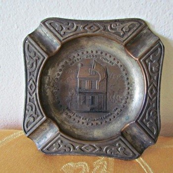  Copper 1930s Betsy Ross House Souvenir of Philadelphia  - Tobacciana