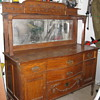 Early 1900 victorian oak sideboard