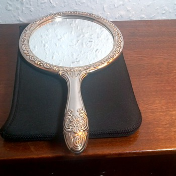 vintage hand mirror Comb Hair Brush  - Accessories