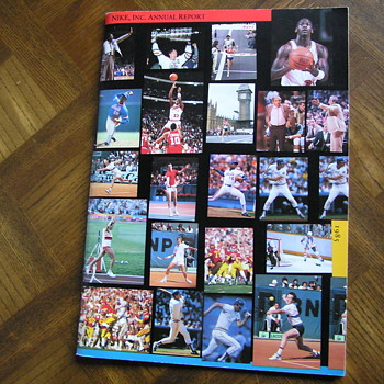 Nike 1985 annual report w/ photos of Michael Jordan