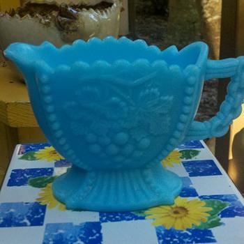 Turquoise Milkglass Creamer